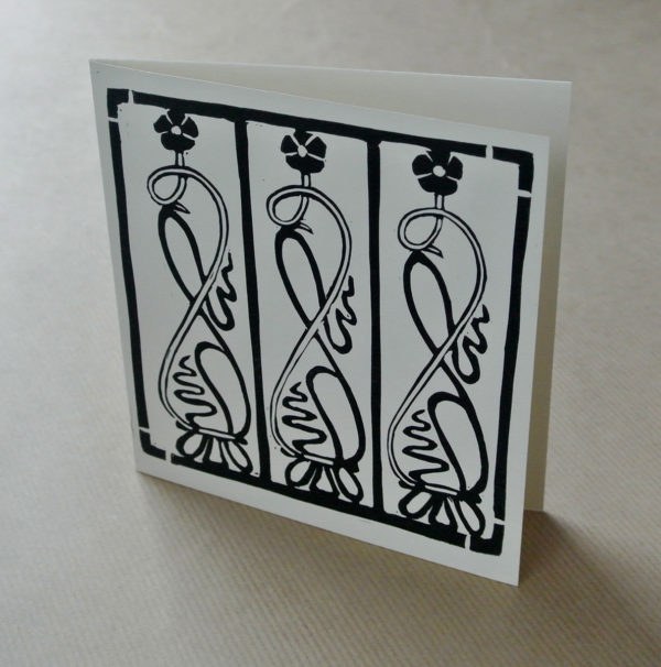 'Balcony' greetings card