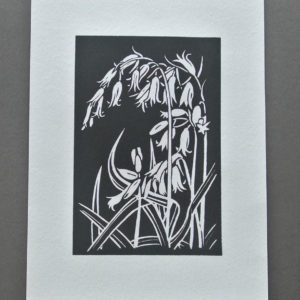bluebell block print black