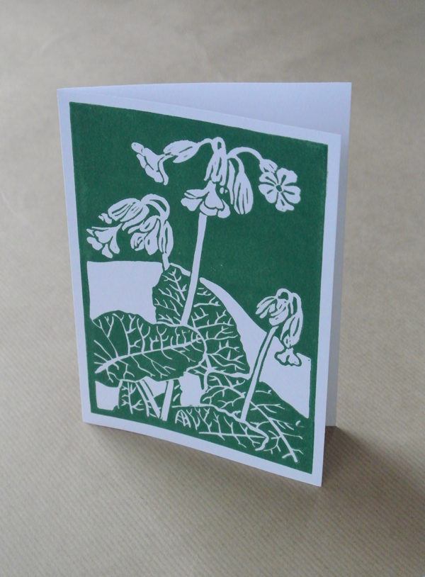 Cowslip greetings card