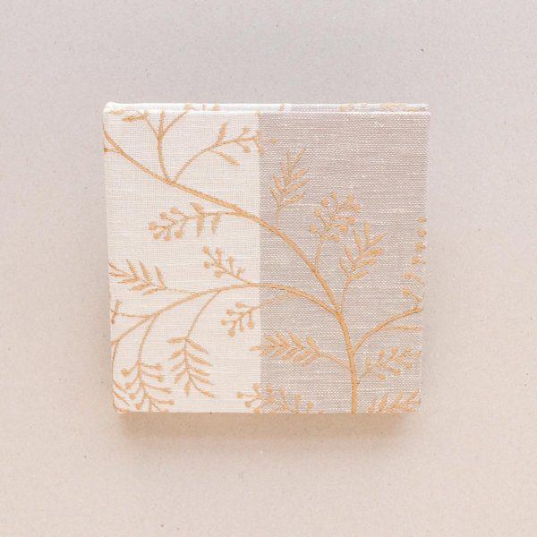 Embroidered Leaf Notebook
