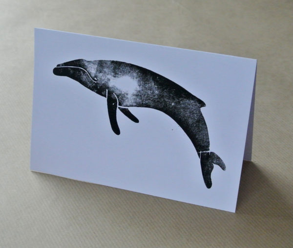 Humpback whale greetings card