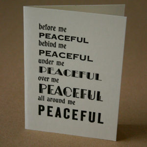 peaceful card
