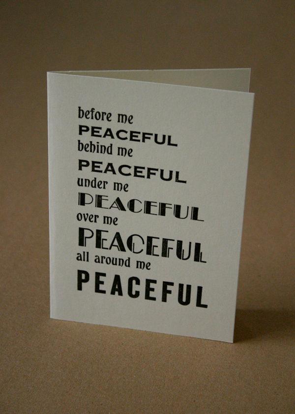 peaceful card