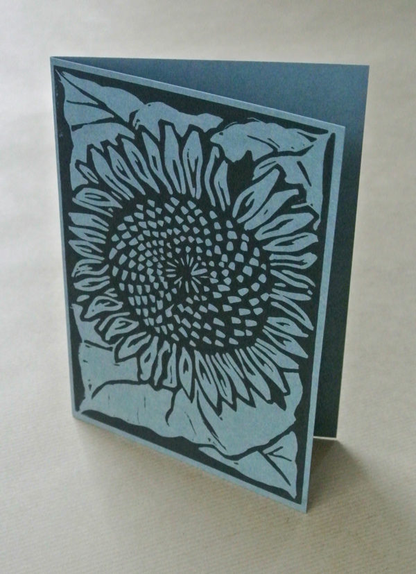 Sunflower greetings card